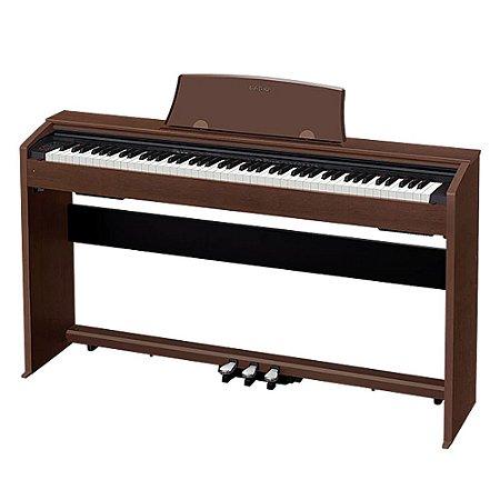 Piano Digital Casio Px 770 Privia BN Marron