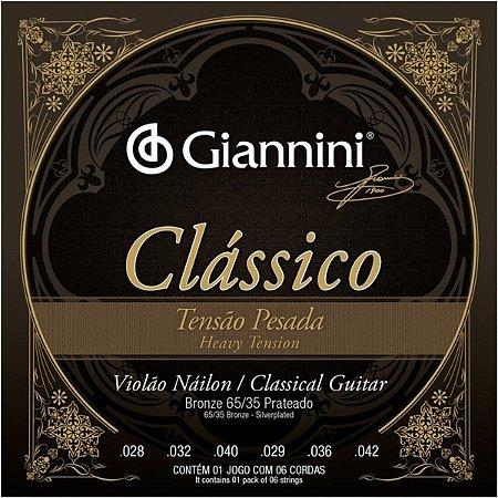 Encordoamento Violão de Nylon Giannini Clássica Pesada