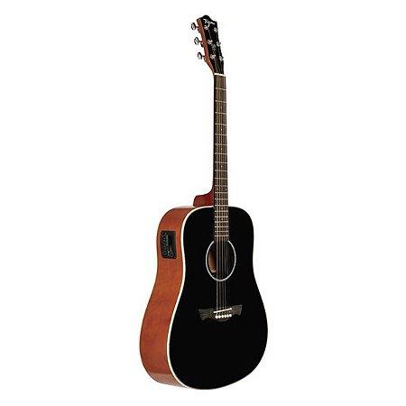 Violão Aço Elétrico Tagima Folk Tw 25 Woodstock Preto