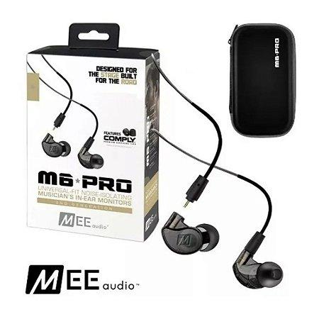 Fone Mee Audio M 6 Pro Universal Fit Noise Monitor Preto