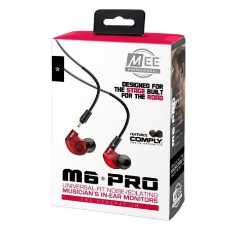 Fone Mee Audio M 6 Pro Universal Fit Noise Monitor Vermelho