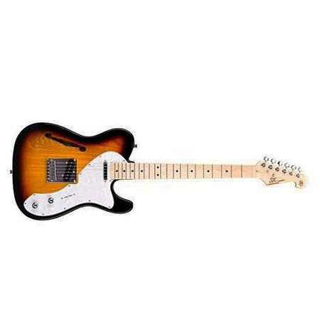 Guitarra Telecaster Sx AshTl Vintage Hollow Body Sunburst