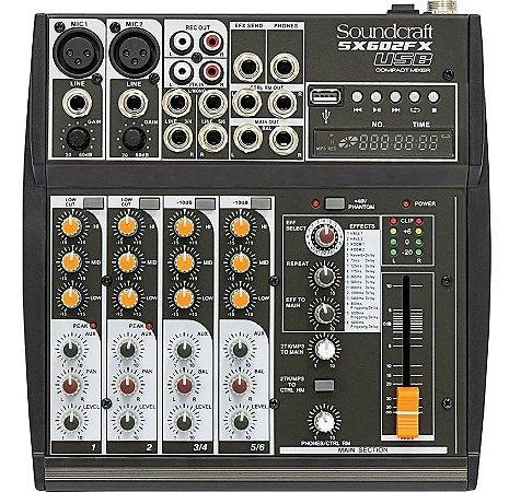 Mesa de Som Soundcraft Sx602Fx - USB