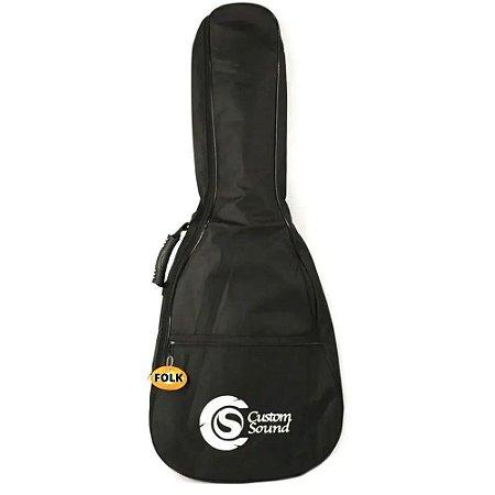 Capa Para Violão Folk Custom Sound Cvf 1 Bk