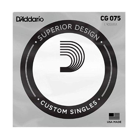 Corda 7 B (Si) Avulsa de Guitarra D'Addario Cg 075