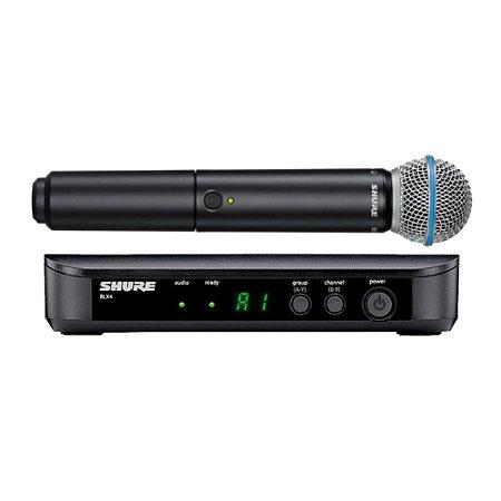 Microfone sem Fio Shure Blx 24 Br Beta 58 Bastão