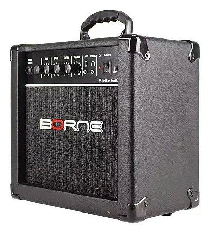 Amplificador Para Guitarra Borne Strike G 30 Preto