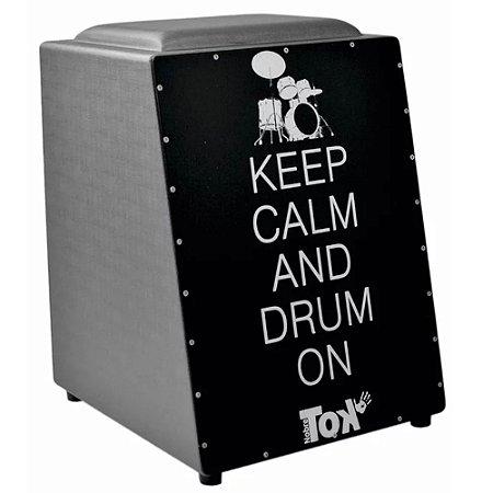Cajon Nobre Tok Eletrico com Bongo Keep Drum 202