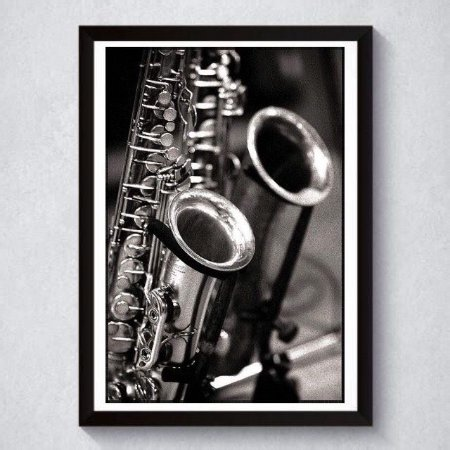 Quadro A4 Decorativo Personalizado - Saxofone