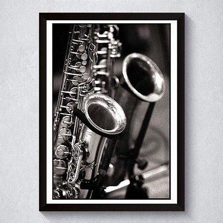 Quadro A3 Decorativo Personalizado - Saxofone