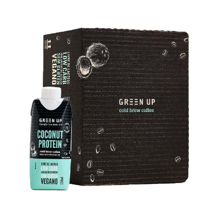 Coldbrew Coconut Protein 330ml Greenup Caixa com 12 Unidades