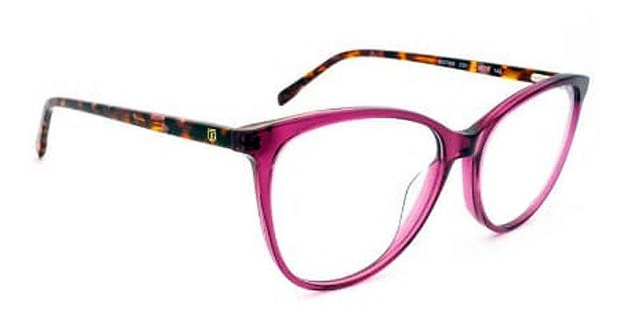 Óculos Armação Bulget Bg7095 C01 Violeta Retangular Feminino