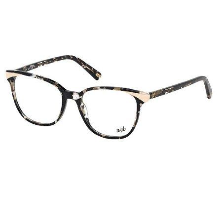 Óculos Armação Web WE5283 55A Preto Mesclado Acetato Feminin