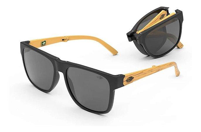 Óculos De Sol Mormaii Dobrável Origami Unissex Madeira