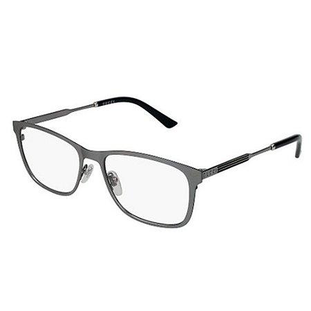 Óculos Armação Gucci GG0301O 003 Cinza Fosco Masculino