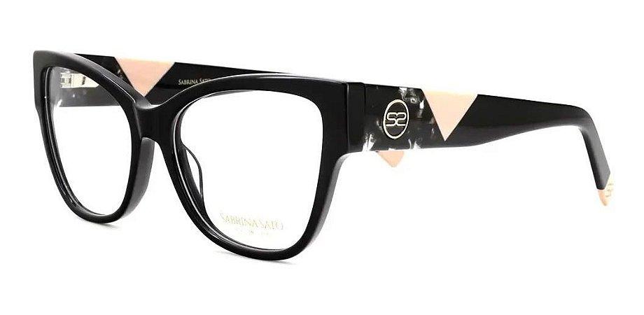 Óculos Armação Sabrina Sato Ss655 C1 Preto Acetato  Feminino