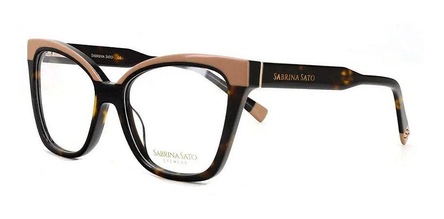 Óculos Armação Sabrina Sato Ss646 C3 Tartaruga  Com Nude