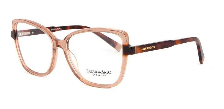 Óculos Armação Sabrina Sato Ss153 C2 Marrom  Translucido