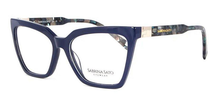 Óculos Armação Sabrina Sato Ss152 C4 Azul Acetato  Feminino