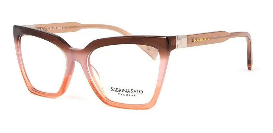 Óculos Armação Sabrina Sato Ss152 C3 Marrom Degrade Feminin