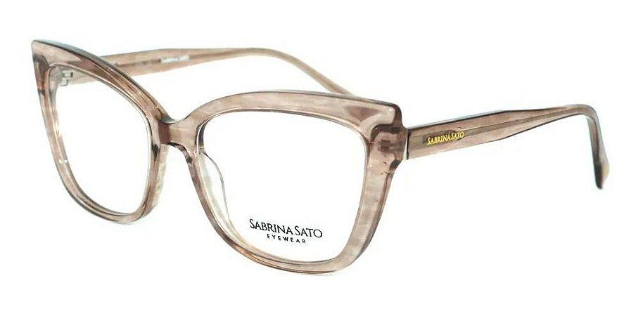 Óculos Armação Sabrina Sato Ss143 C3 Marrom  Translucido