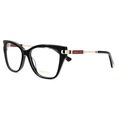 Óculos Armação Sabrina Sato SS637 C1 Preto Feminino Acetato