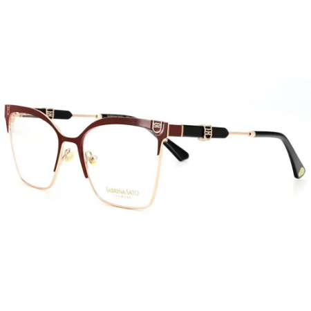 Óculos Armação Sabrina Sato SS671 C2 Vinho Metal Feminino