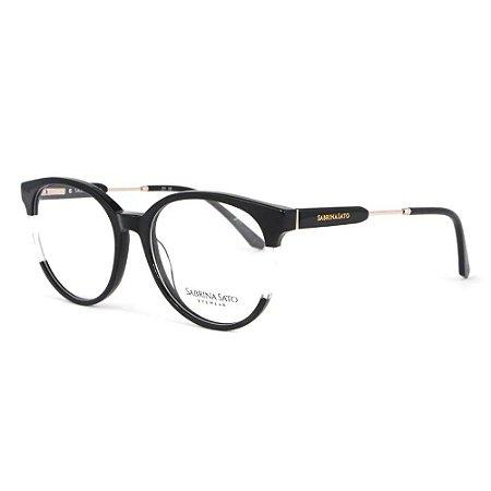 Óculos Armação Sabrina Sato SS150 C1 Preto com Transparente