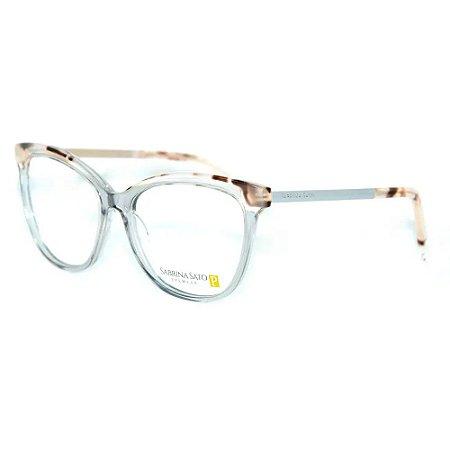 Óculos Armação Sabrina Sato SS592 C2 Cinza Translucido