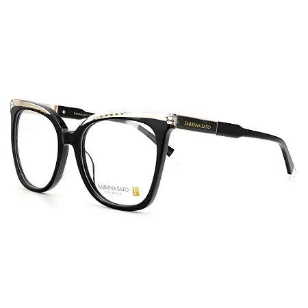 Óculos Armação Sabrina Sato SS630 C1 Preto Acetato Feminino