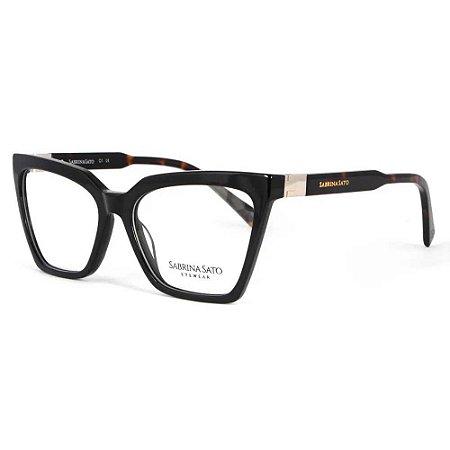 Óculos Armação Sabrina Sato SS152 C1 Preto Acetato Feminino