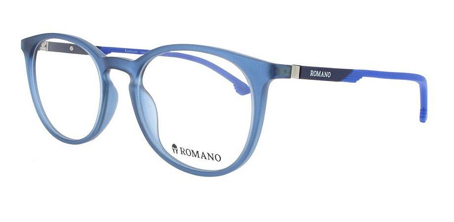 Óculos Armação Romano Ro1059 Azul Escuro  Translucido  C3