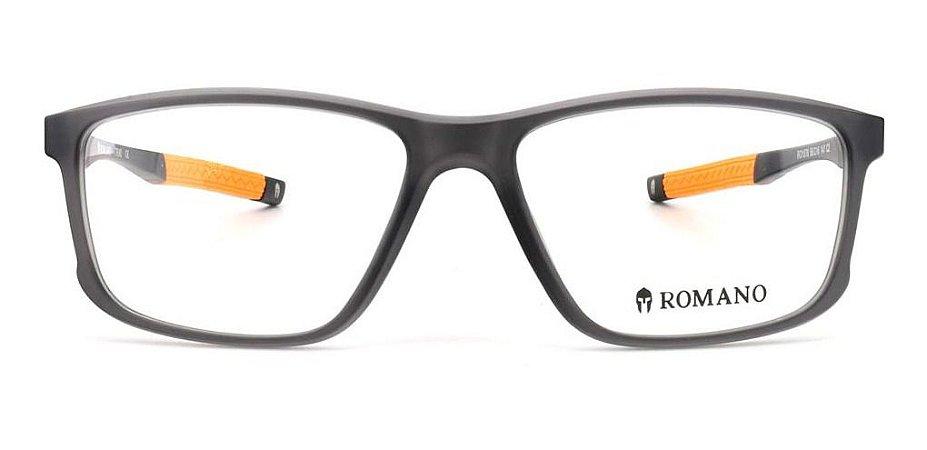Óculos Armação Romano Ro1078 C2 Cinza Translucido  Fosco