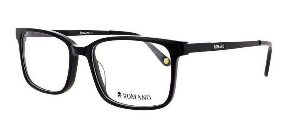 Óculos Armação Romano Ro1063 C2 Preto Fosco  Masculino
