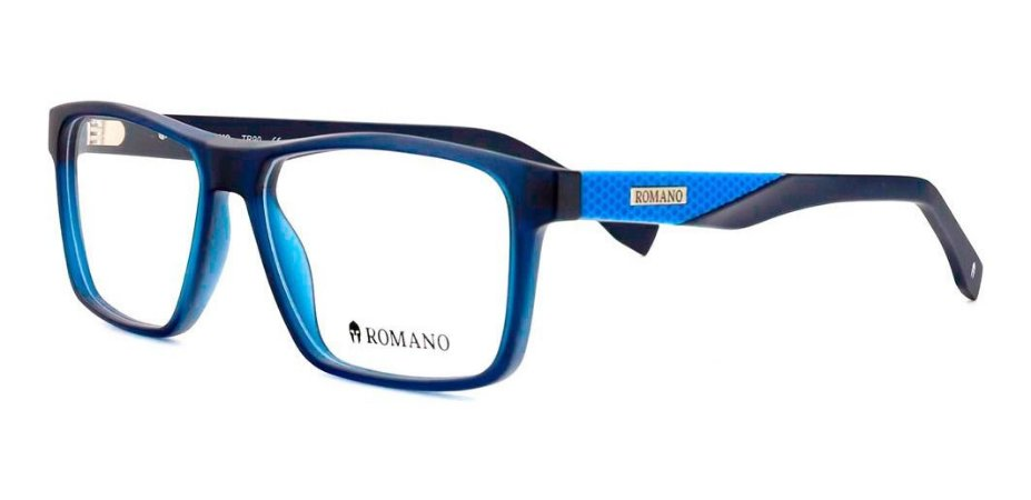 Óculos Armação Romano Ro1077 C3 Azul Fosco  Masculino