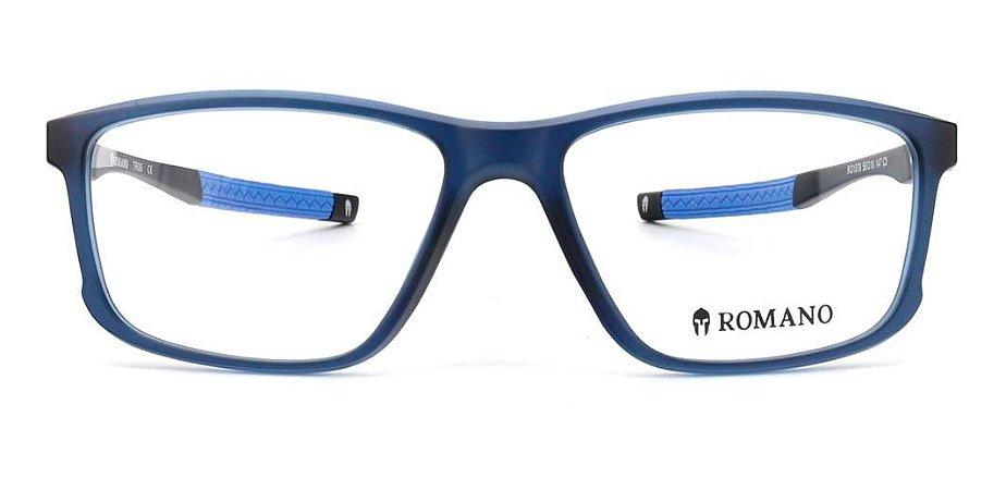 Óculos Armação Romano Ro1078 C3 Azul Fosco  Masculino