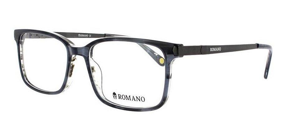 Óculos Armação Romano Ro1063 C4 Preto Translucido  Masculino