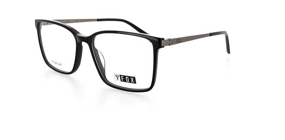 Óculos Armação Fox 237 C1 Preto Titanium  Masculino