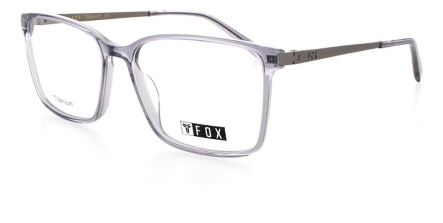 Óculos Armação Fox 237c3 Translucido Haste De Titanium