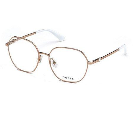 Óculos ARmação Guess GU2780 028 Rose Metal Feminino