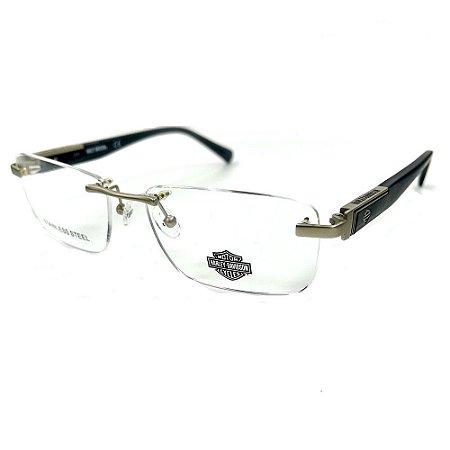 Óculos Armação Harley-Davidson HD0864 011 Cinza Balgriff