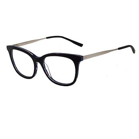 Óculos Armção Hickmann HI6079 H01 Preto com Azul Feminino