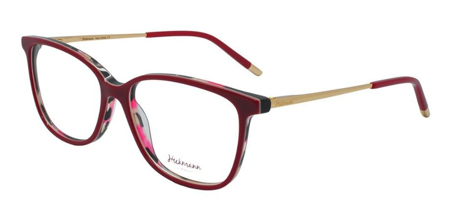 Óculos Armação Hickmann Vermelho Dourado Premium  Hi6048 H02