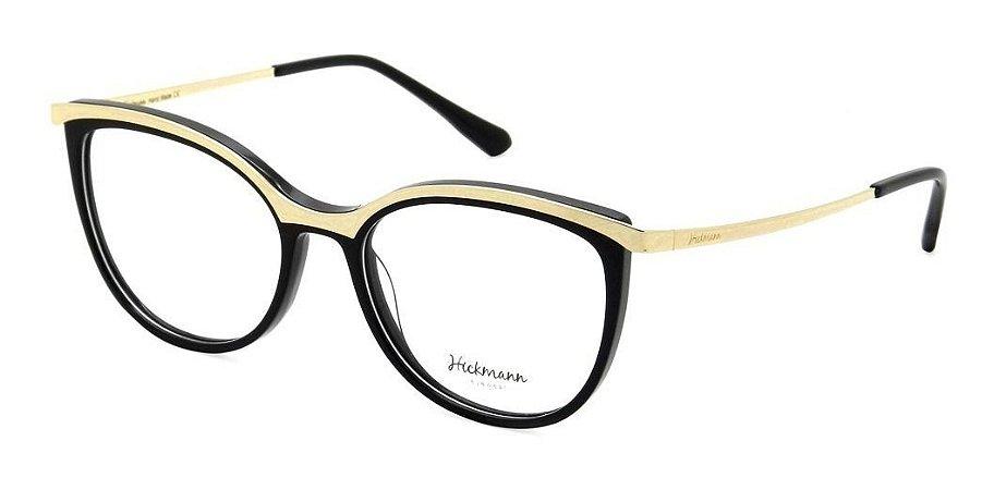 Óculos Armação Hickmann Hi6108 A01 Preto Feminino