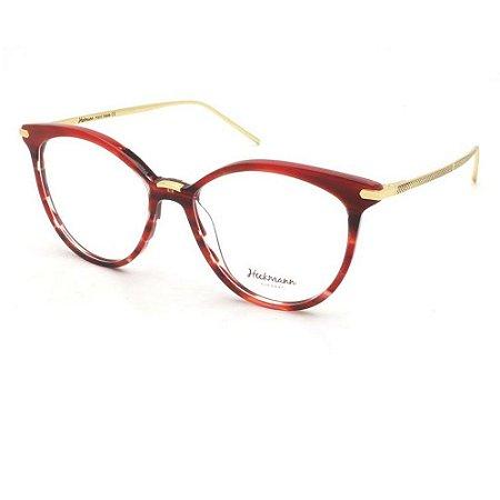 Óculos Armação Hickmann HI6082 E01 Vermelho Mesclado Acetato