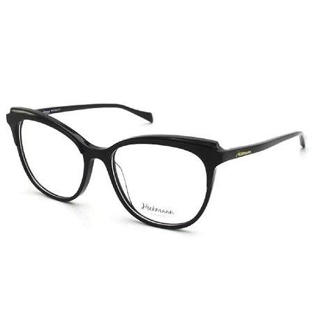 Óculos Armação Hickmann HI6132B A01 Preto Acetato Feminino