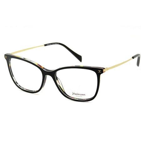 Óculos Armação Hickmann HI6113 H01 Marrom Mesclado Feminino
