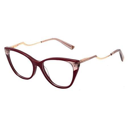 Óculos Armação Ana Hickmann AH6403 P02 Acetato Vermelho