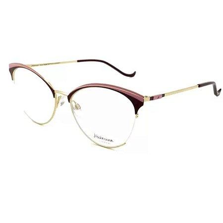 Óculos Armação Hickmann HI1055 07A Bordo com Rosa Metal