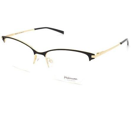 Óculos Armação Hickmann HI1061 09A Preto com Dourado Metal